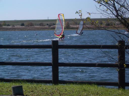 彩湖のウィンドサーファー